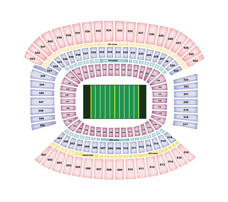 FirstEnergy Stadium Stadium Seating Map
