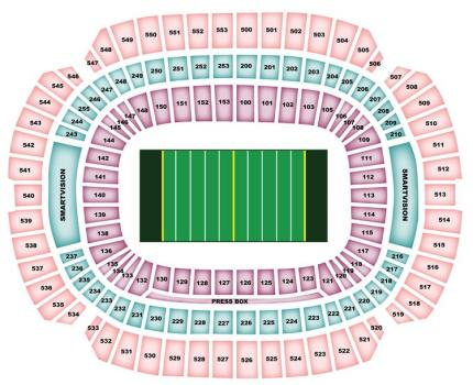 M&T Bank Stadium Stadium Seating Map