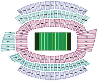 Paul Brown Stadium Stadium Seating Map