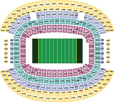 AT&T Stadium Stadium Seating Map